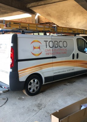 Another van installed on site.