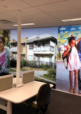 Frosted wall murals – instant impact