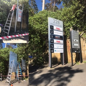 directory sign installation